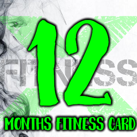 12 Months fitness card