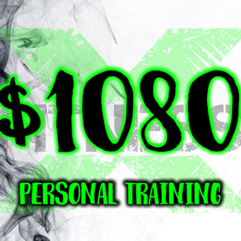 $1080 per session personal training