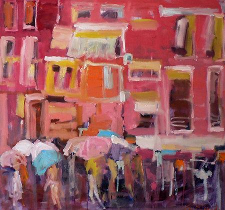 Burano in the Rain, Venice