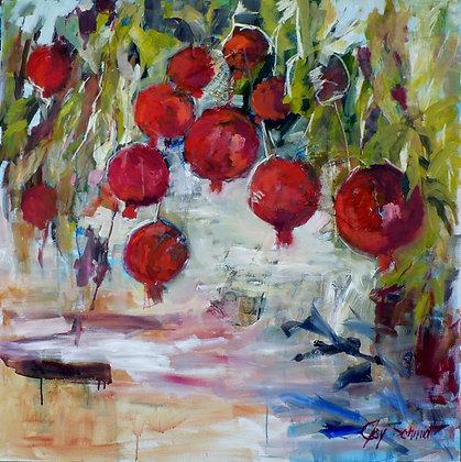Pomegranates 2 (Mixed Media)