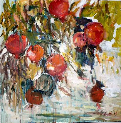 Pomegranates (Mixed Media)