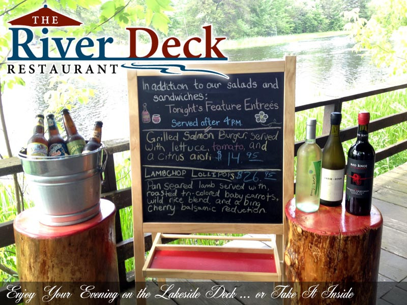 River Deck menu