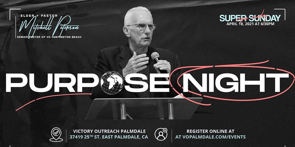 PURPOSE NIGHT x Elder + Pastor Mitchell Peterson