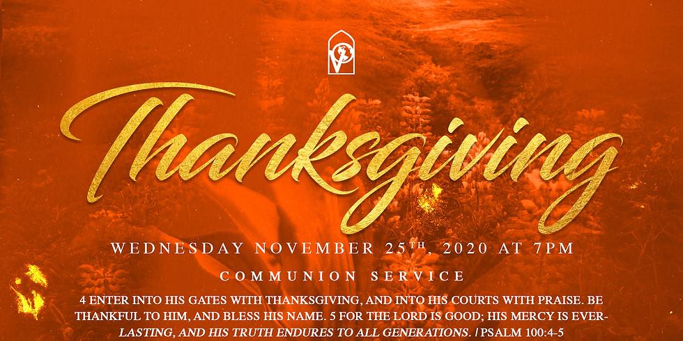 Thanksgiving Communion Service | Nov. 25