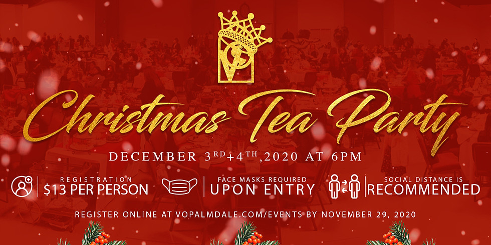 Christmas Tea Party 2020 December 4