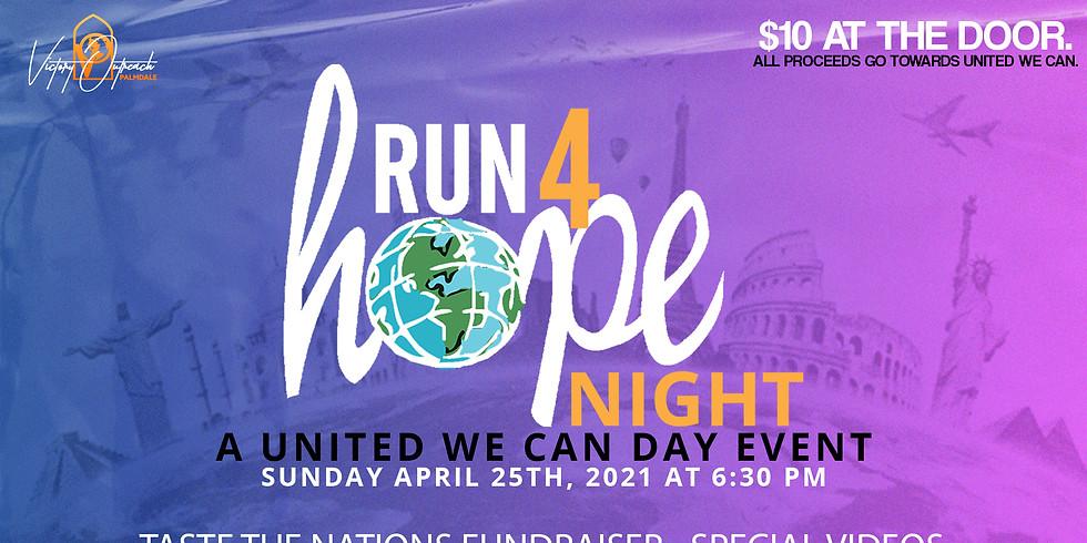 RUN-4-HOPE NIGHT April 25, 2021