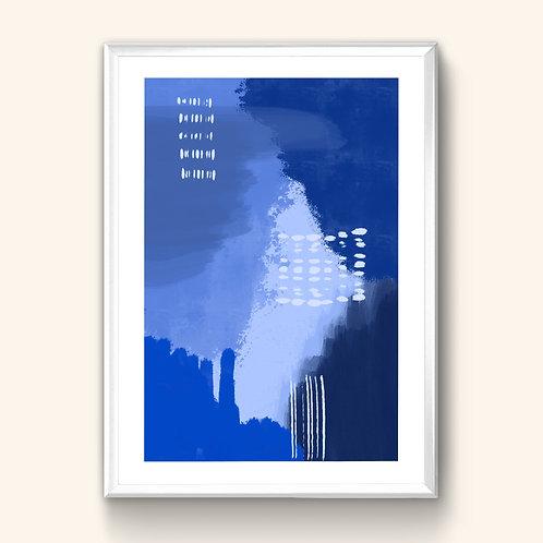 Abstract Print - Deep Blue