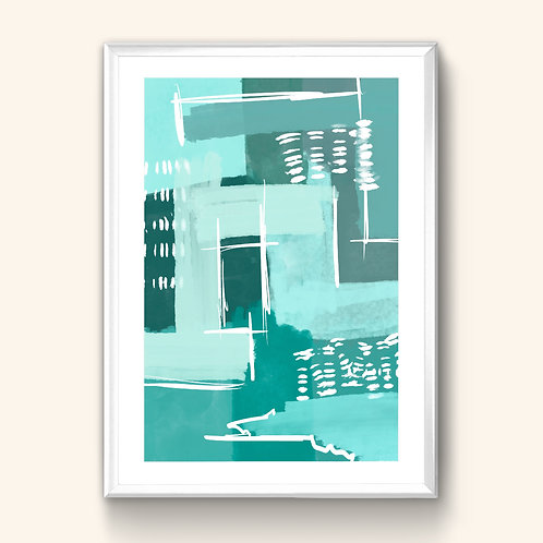 Abstract Print - Peppermint