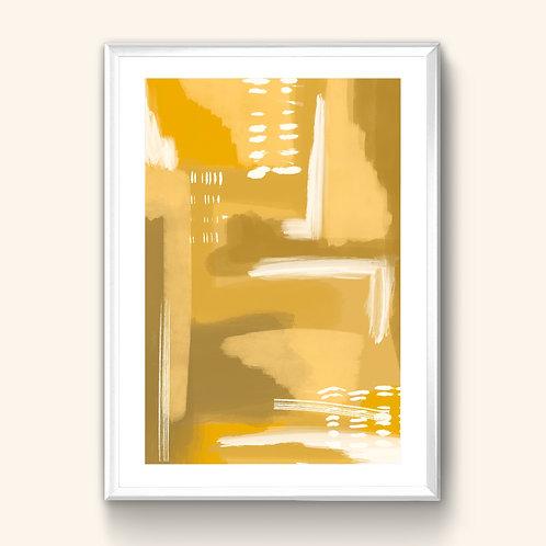 Abstract Print - Mustard