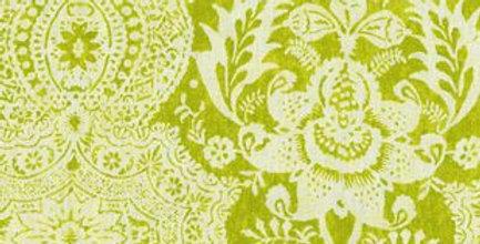 Green Linen Ikat Fabric - Modern Ikat Fabric