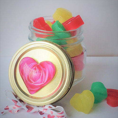Candied Soap Hearts
