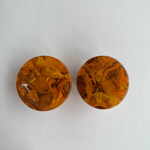 "1"" Tangerine Brown Power Plugs"