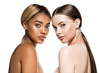 Different races woman beauty portrait is