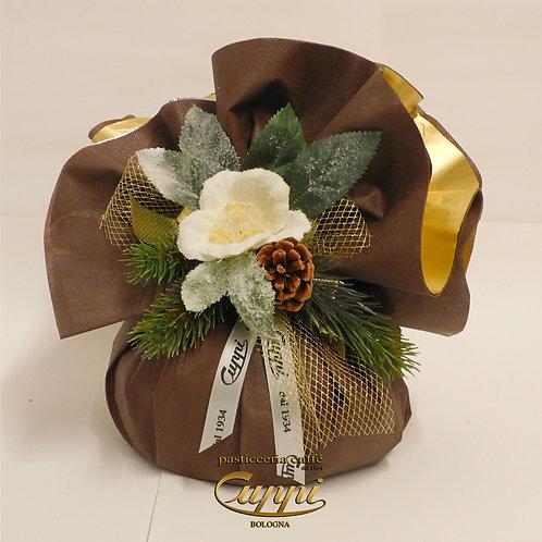 Panettone artigianale da 500gr Collezione Natural Gold & Brown