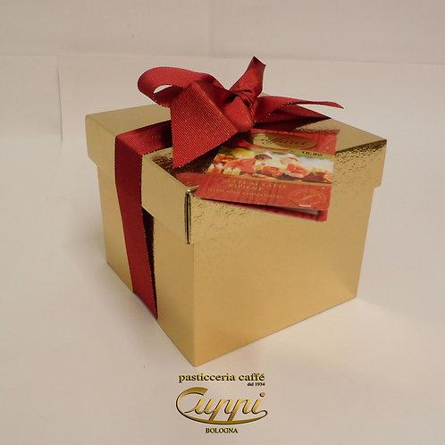 Caffarel Scatola 3 D Oro e rosso con sferette al latte ripiene