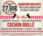 flyer menu cochon grillé