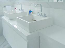 pia banheiro de mármore