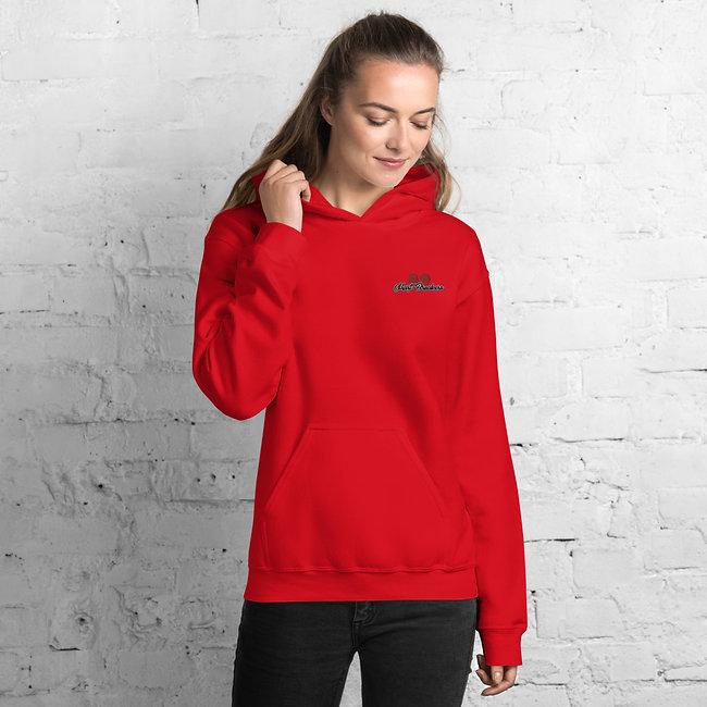 red womens hoodie
