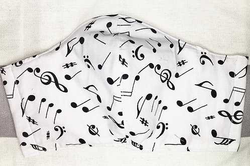 Face Mask Musical Notes