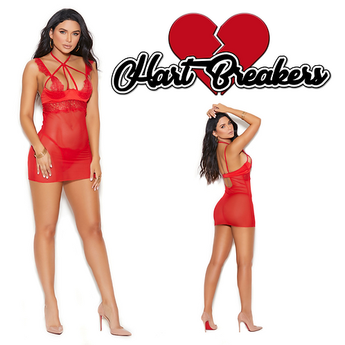 Red Lace Babydoll 44059