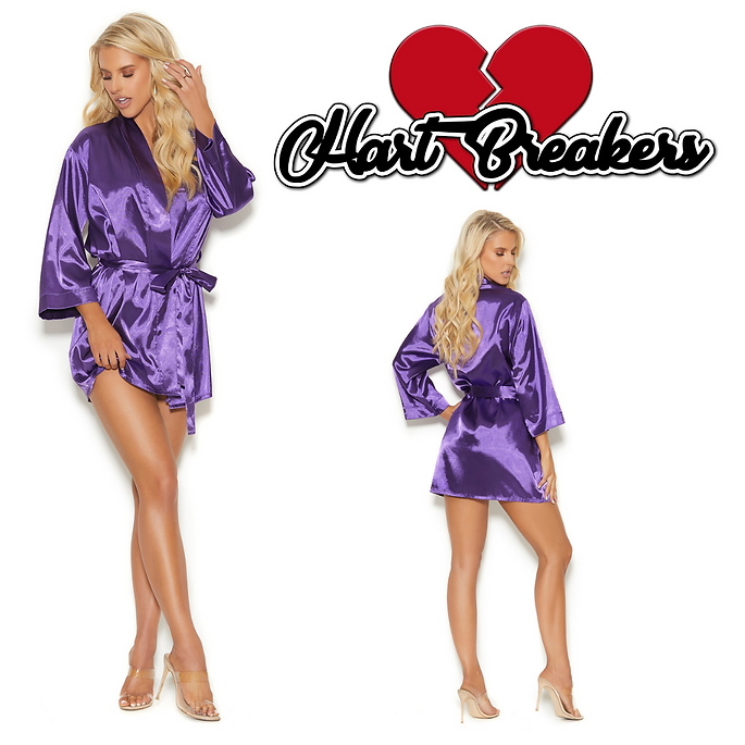 womens silky purple robe