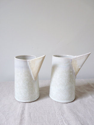 White Heron Pouring Vessel: Porcelain