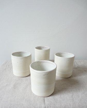 Lavender Rimmed Tumblers: Porcelain