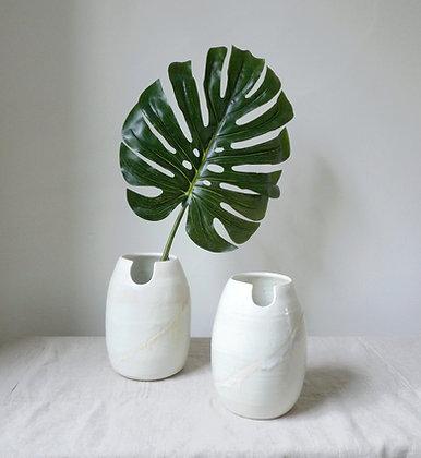 Sunset Horizon Egg Vase: Porcelain