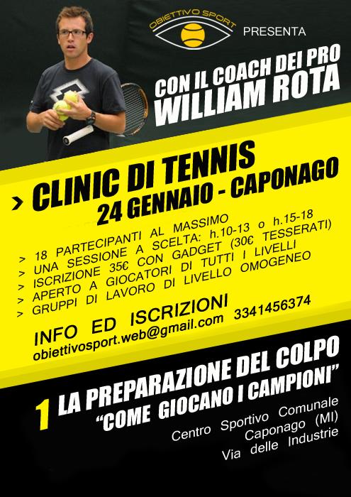 Tennis Clinic con William Rota
