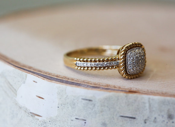 14k yellow and white gold.