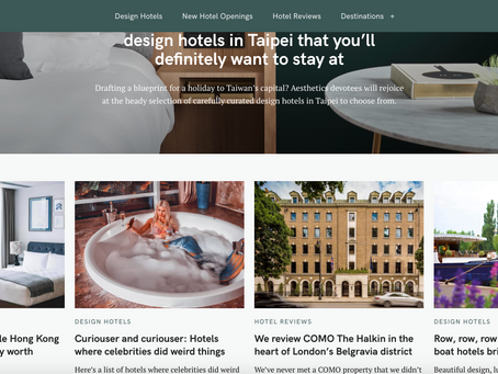 The Hotel Journal - Website, UX Design, Social Strategy