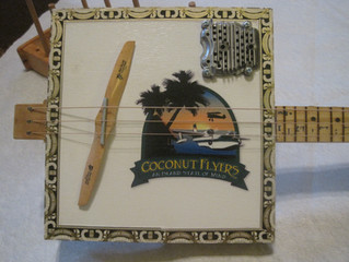 Custom themed Cigar box guitars