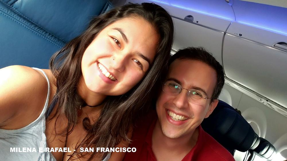 Milena Morais e Rafael Piccolotto de Lima a caminho do San Francisco International Forró Weekend 2019