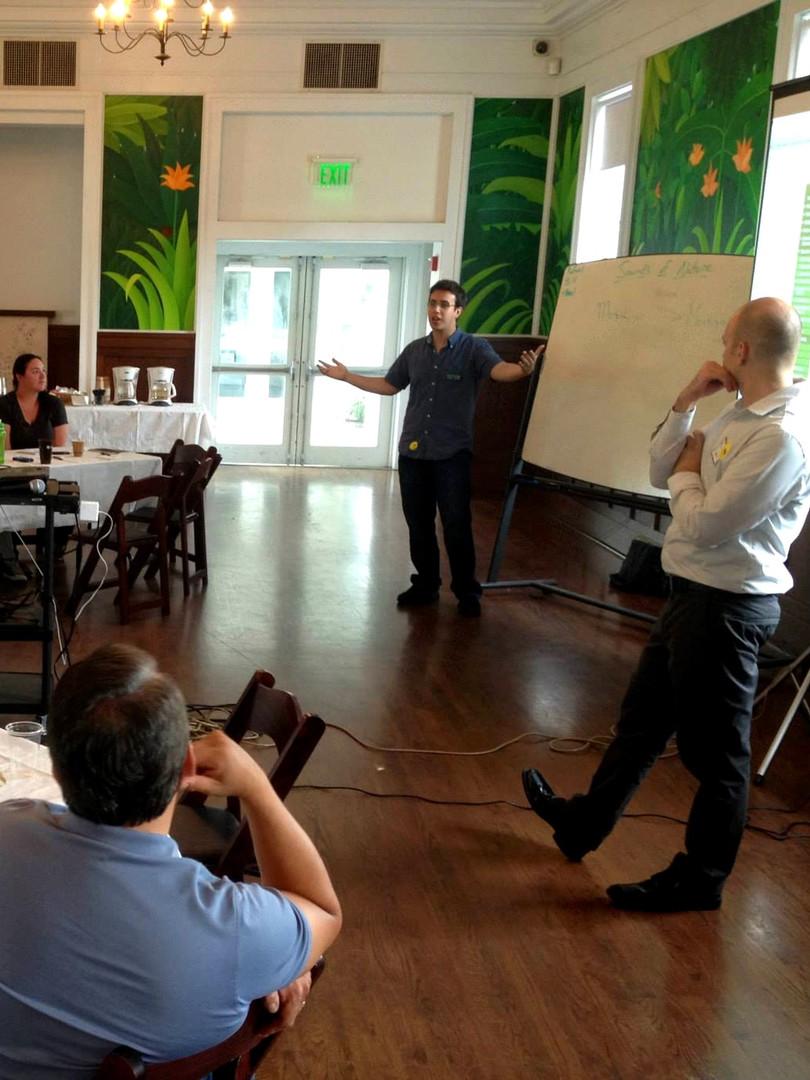Rafael Piccolotto de Lima teaching at advising teachers at Fairchild in Miami