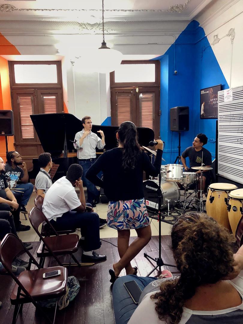 Rafael Piccolotto de Lima teaching at Danilo Perez foundation in Panama