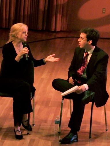 Rafael Piccolotto de Lima interviewing Maria Schneider at Univsersity of Miami