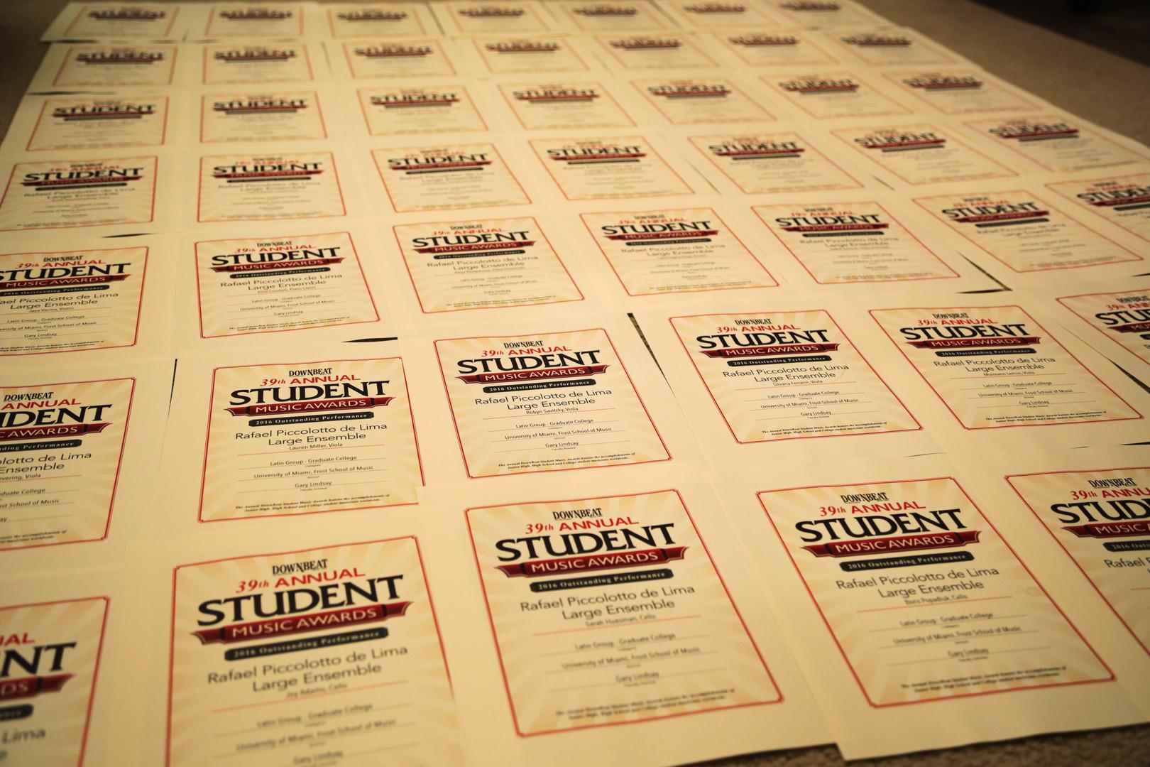 downbeat certificates photo.JPG