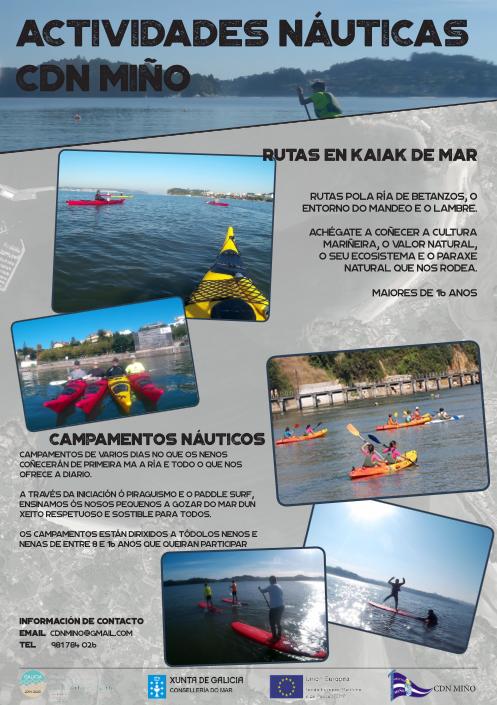 rutas y deportes nauticos