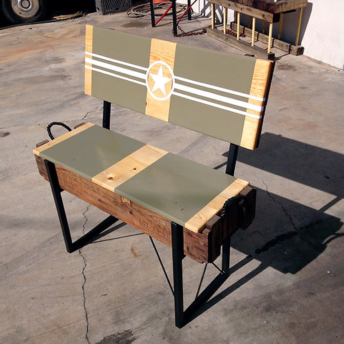 Repurposed Ammo Crate Bench