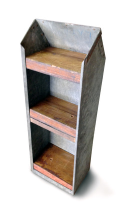 Repurposed Industrial Shelf