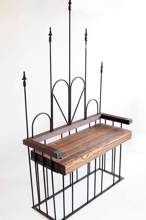 Salvaged Wrought Iron Love Seat