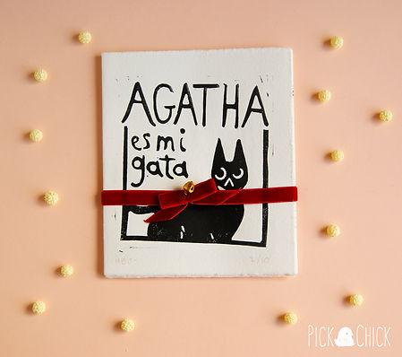libro linograbado gatos