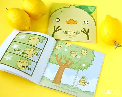 comic, ilustrado, pollito, limon, kawaii, fanzine, arte digital