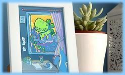 laminas, prints, ilustraciones, cuadros, decoracion, kawaii, postales, ilustracion digital