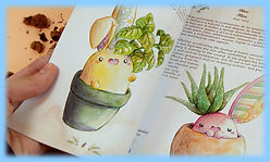 fanzine, kawaii, libros, autoedicion, acuarela, ilustracion, colorear