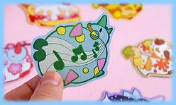 pegatinas, stickers, kawaii, adhesivos, ilustracion, adorable