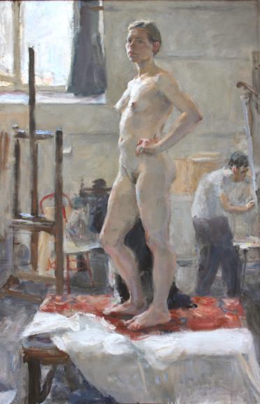 Nude Female Model in the Studio