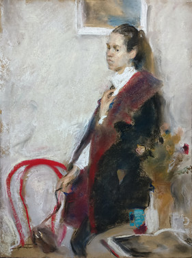 Portrait of a lady in a coat