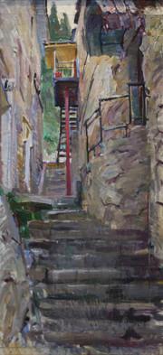 Narrow Street in Alupka