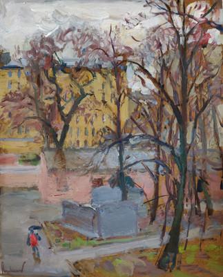 Rainy spring days in Saint Petersburg